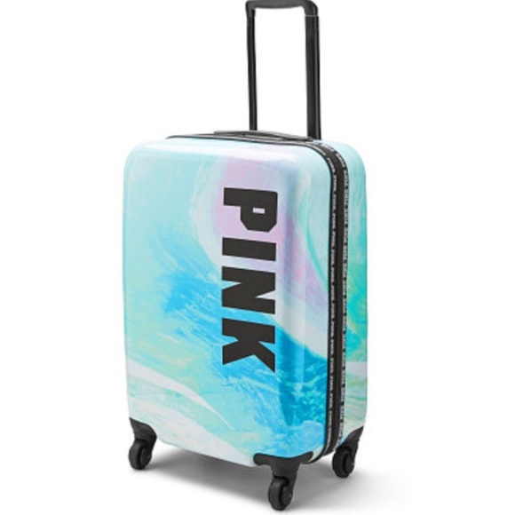 837dd098452a New VS PINK Hard Case Wheelie Carry On Luggage NWT